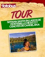 Tour Lagos de Montebello México y Cenotes de Candelaria 2016